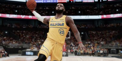 Lebron James w grze NBA 2k22 - all star game