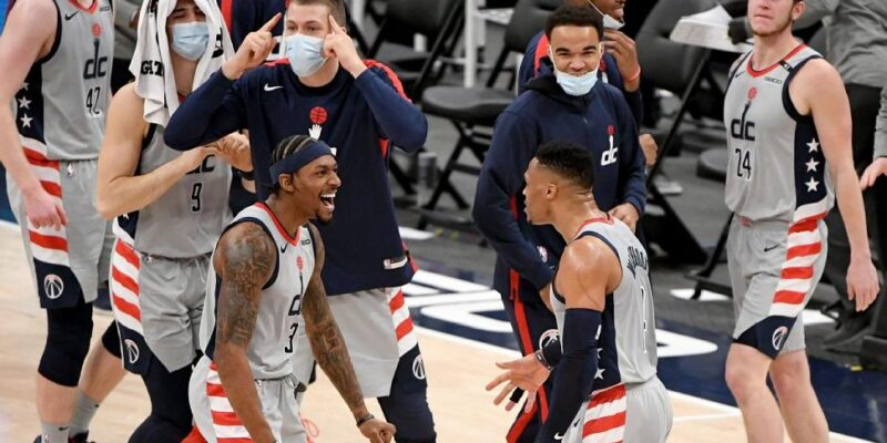 Russell Westbrook with teams Washington Wizards 2021