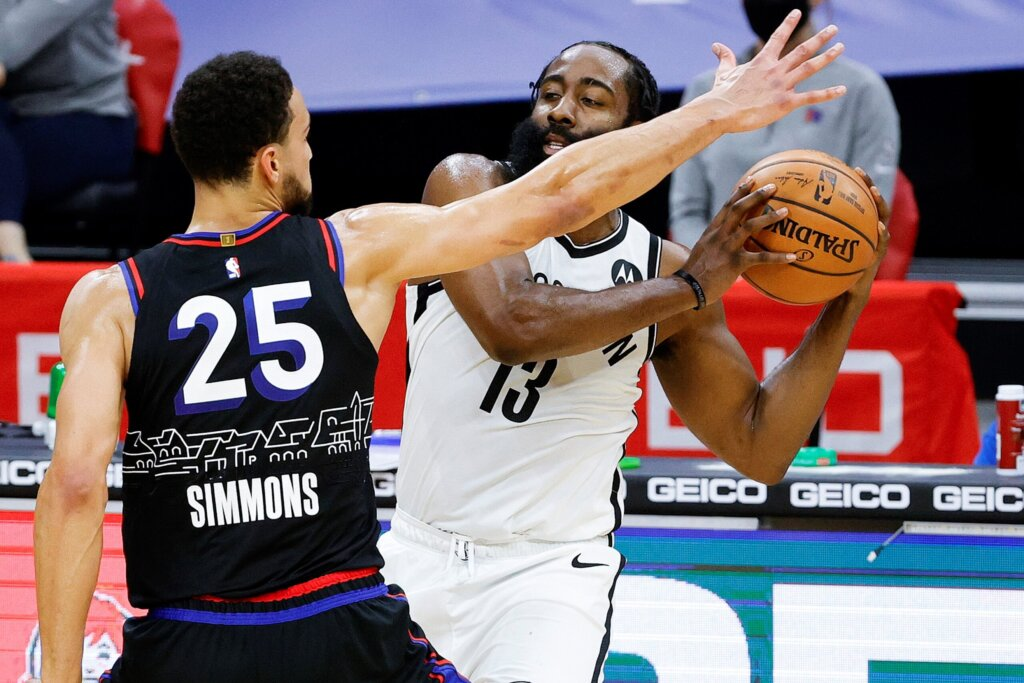 Ben Simmons guard James Harden 2021
